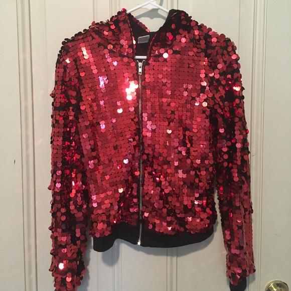 f36cdc6c Urban Groove Jackets & Coats | Red Sequin Jacket | Poshmark